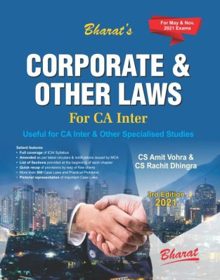 Bharat CA Inter Corporate & Other Laws New Syllabus By CS Amit Vohra