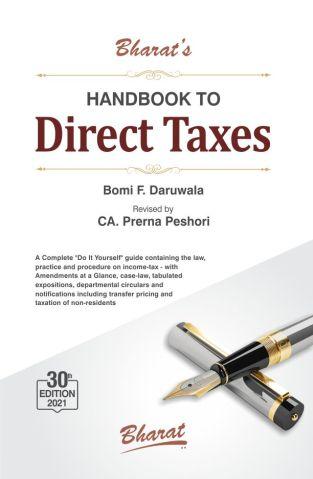 Bharat Handbook to Direct Taxes By Bomi F. Daruwala Edition June 2021