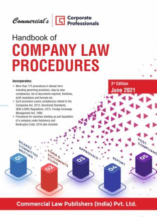 Commercial Company Law Procedures By Corporate Professionals