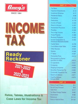 Gargs Income Tax Ready Reckoner Assessment Year 2021-2022