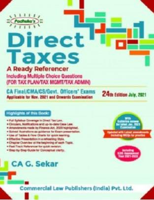 Commercial Padhuka s Direct Taxes- A Ready Referencer G Sekar