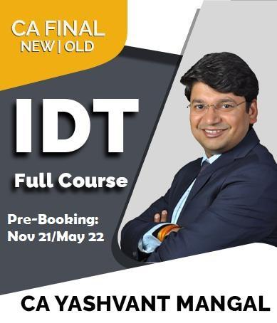 Video Lecture CA Final Indirect Tax Law By CA Yashvant Mangal