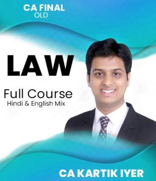 Video Lectures CA Final Corporate Law And Allied Laws By Kartik Iyer