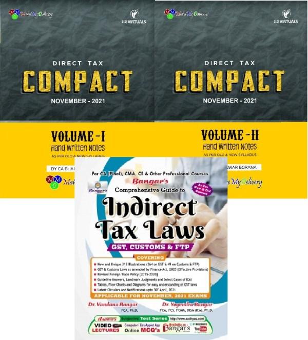 CA Final Combo Direct Tax Indirect Tax Bhanwar Borana Yogendra Bangar