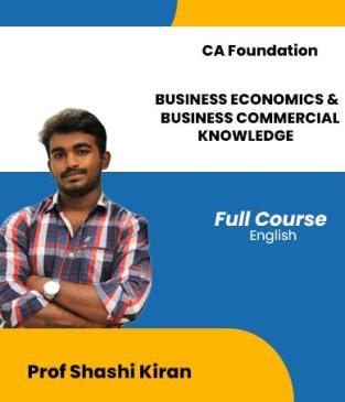Video Lecture CA Foundation BEBCK By Shashi Kiran