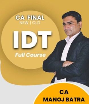 Video Lecture CA Final Indirect Tax Regular Batch CA Manoj Batra