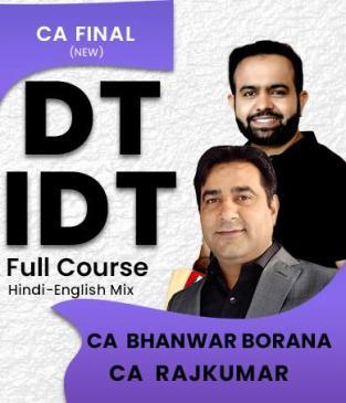 Video Lecture CA Final Direct Tax Indirect Tax Bhanwar Borana Rajkumar