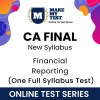 CA Final Financial Reporting New Syllabus Online Test Series