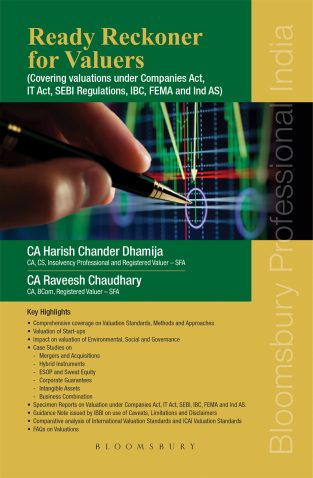 Bloomsbury Ready Reckoner for Valuers By Harish Chander Dhamija