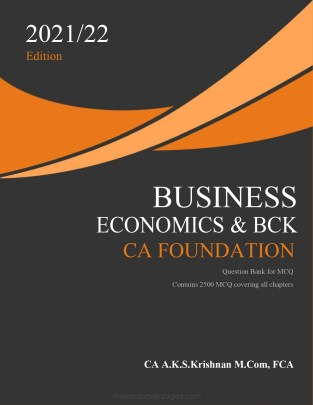 CA Foundation Business Economics Question Bank By CA AKS Krishnan