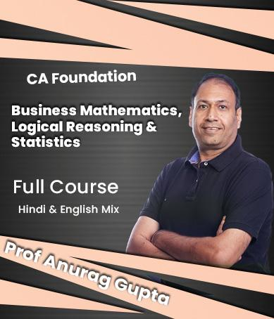 Video Lectures CA Foundation Business Mathematics By Anurag Gupta