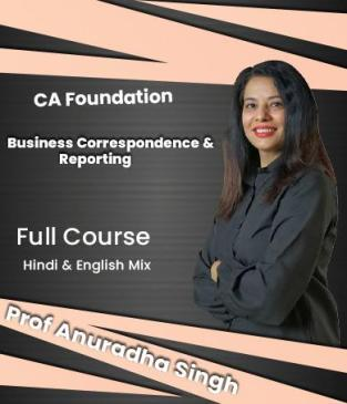 Video Lectures CA Foundation Business Correspondence Anuradha Singh