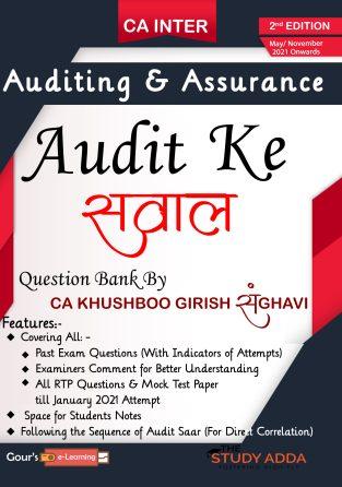 CA Inter Audit Ke सवाल New Syllabus By CA Khushboo Sanghavi