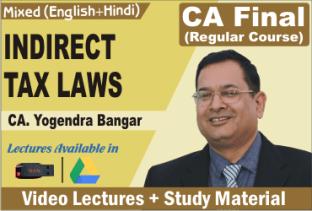 Video Lecture CA Final IDT In Hinglish CA Yogendra Bangar