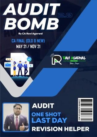 CA Final Audit Bomb PDF Old & New Syllabus By CA Ravi Agarwal
