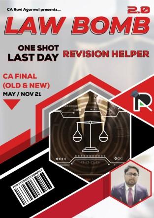 CA Final Law Bomb 2.0 PDF Old & New Syllabus By CA Ravi Agarwal