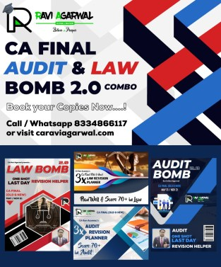 CA Final Combo Law Bomb 2.0 and Audit Bomb 2.0 By CA Ravi Agarwal