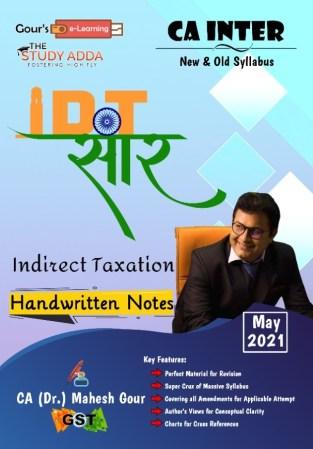 CA Inter IDT सार Handwritten Notes By CA Mahesh Gour