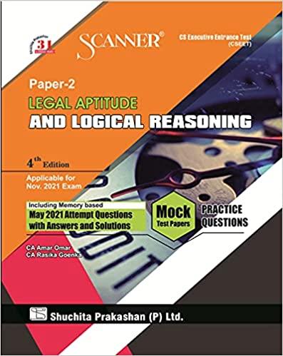Shuchita Model Scanner CSEET Legal Aptitude and Logical Reasoning