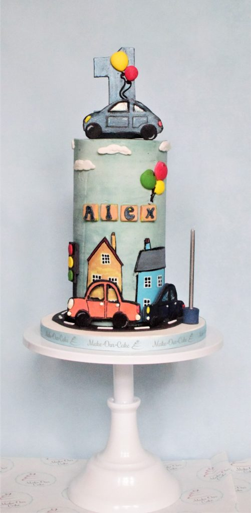 Tall 1st Birthday Cake
