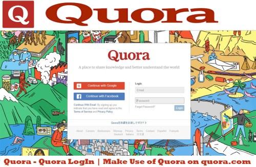 Quora - Quora LogIn | Make Use of Quora on quora.com