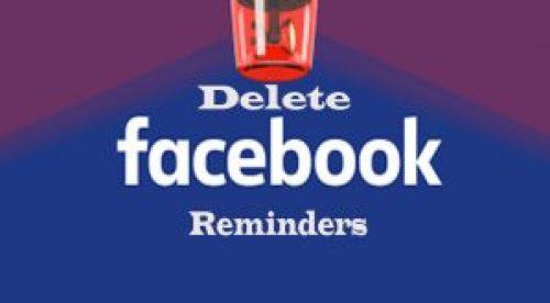 Delete Facebook Reminders