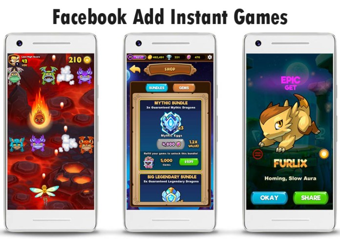 Facebook Add Instant Games