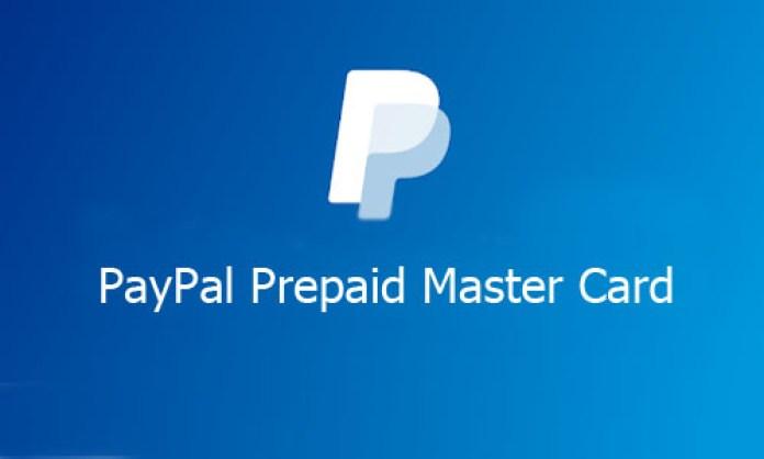 PayPal Prepaid Master Card