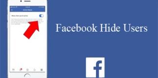 Facebook Hide Users