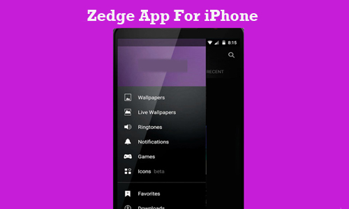 Zedge App For iPhone