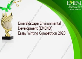 Emeraldscape Environmental Development (EMEND) Essay Writing Competition 2020