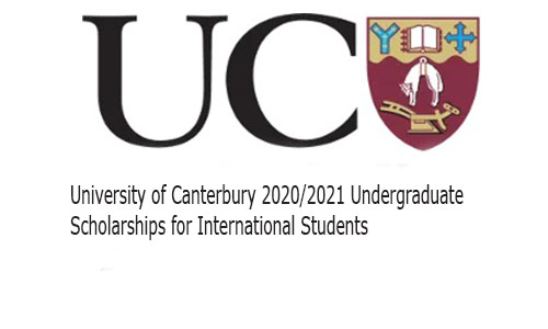 University of Canterbury 2020/2021 Undergraduate Scholarships for International Students