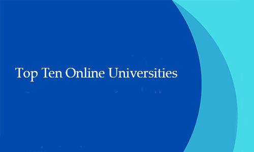Top Ten Online Universities