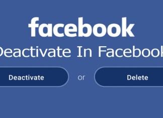 Deactivate In Facebook