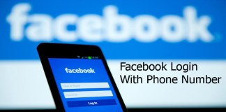 Facebook Login With Phone Number