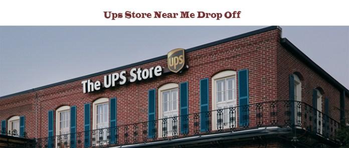 UPS Store Near Me Drop Off