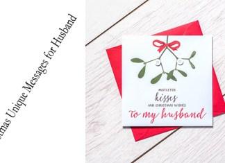 Christmas Unique Messages for Husband
