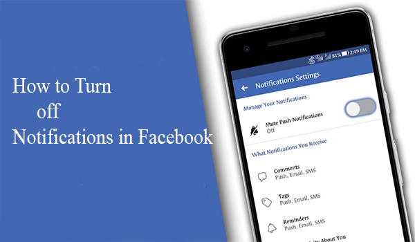 How to Turn off Notifications in Facebook