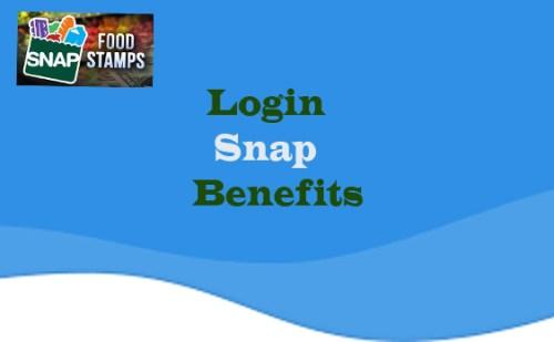 Login Snap Benefits