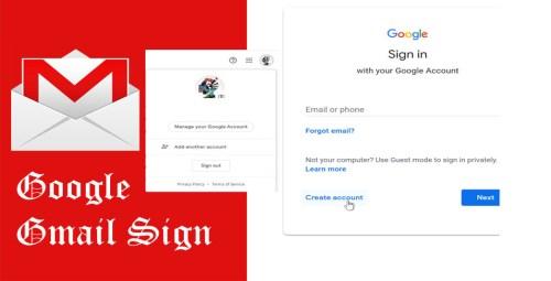 Google Gmail Sign