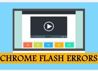 Chrome flash Errors