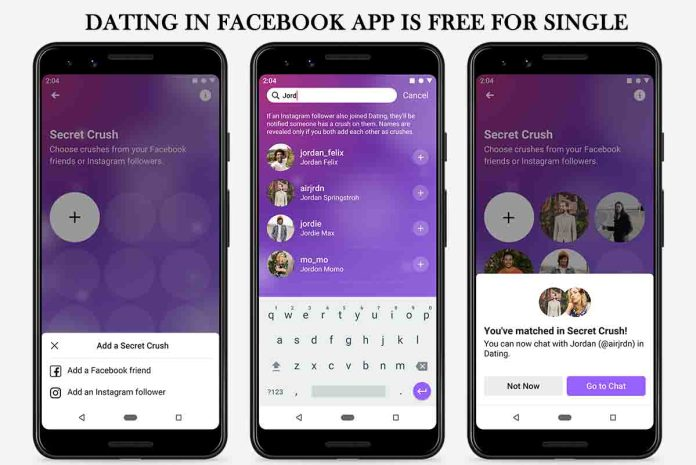 Dating in Facebook App is free for Single 2021