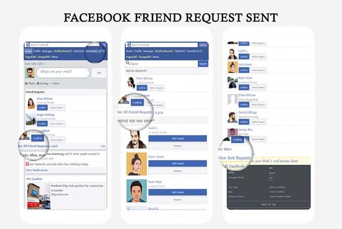 Facebook Friend Request Sent