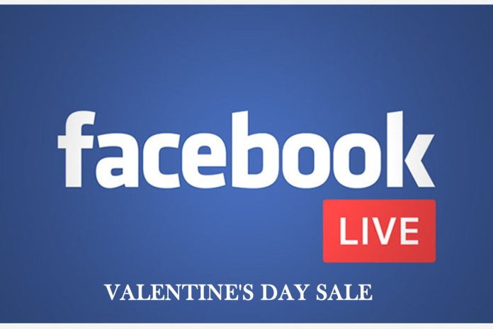 Facebook live Valentine's Day Sale