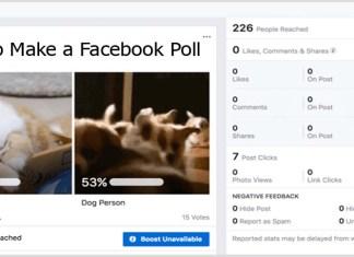 How to Make a Facebook Poll