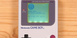 Game Boy Mod for Bitcoin Mining