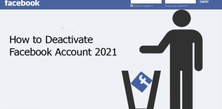 How to Deactivate Facebook Account 2021