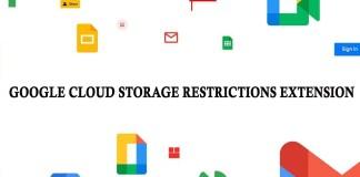 Google Cloud Storage Restrictions Extension
