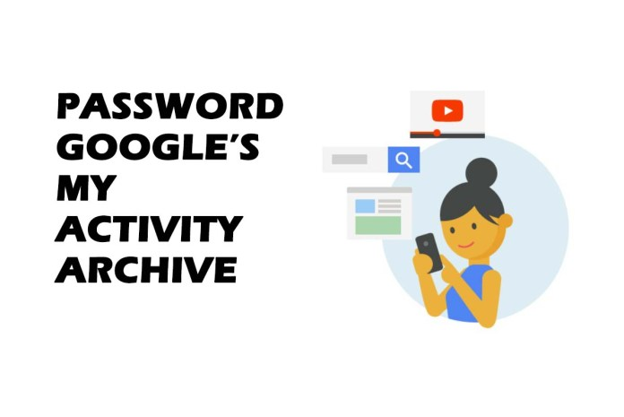 Google Users can Now Add Password to their My Activity Archive