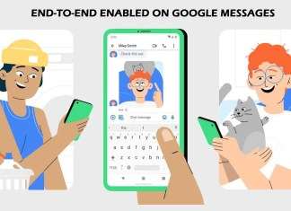 End-to-end Enabled on Google Messages